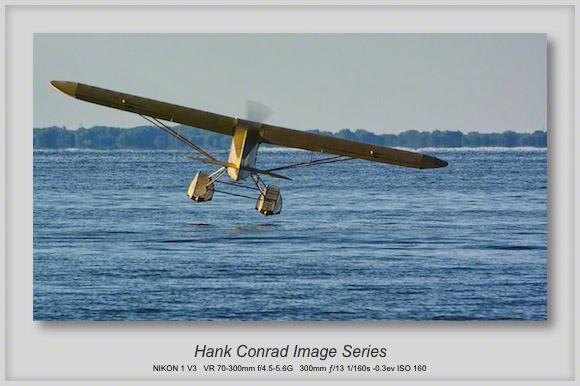 Piper J-3 Cub on Floats Landing