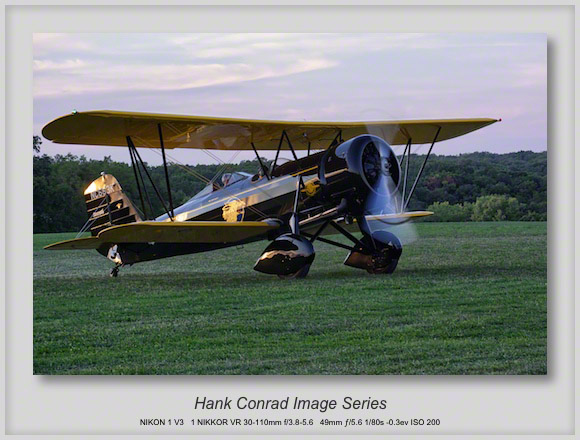 Stearman Model 4E in Sunset Light