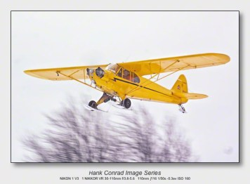 Ski Plane Weekend | Piper Cub Flying in a Snow Shower