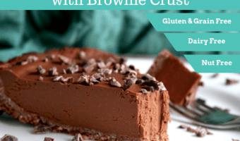 Chocolate Sweet Potato Pie with Brownie Crust