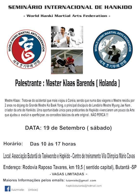 brazil hankido seminar poster