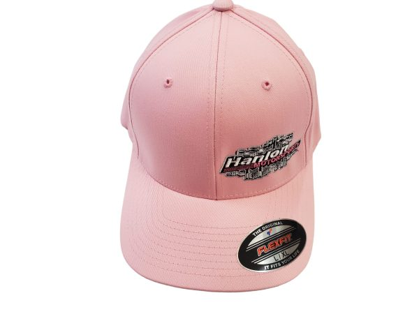 pink, grey, gray, womans, ladies, mens, girls, new hat, apparel, Hat, Hats, HMS Hat, Hanlon Motorsports Hat, FlexFit, FlexFit Hat, Small FlexFit, S/M FlexFit, Large FlexFit, XXL FlexFit, L/XL FlexFit, XL/XXL FlexFit, Pink Hat, Pink FlexFit