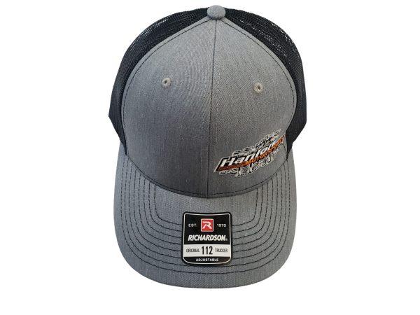 grey, black, apparel, Hat, HMS Hat, Hanlon Motorsports Hat, Snapback, Snapback Hat, Richardson Hat, Richardson, Richardson Snapback, Richardson 112, HMS, HMS Apparel, Hanlon Motorsports, Hanlon Motorsports Apparel