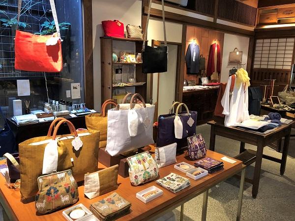 ★奈良「遊 中川」本店。麻のバッグが美しい