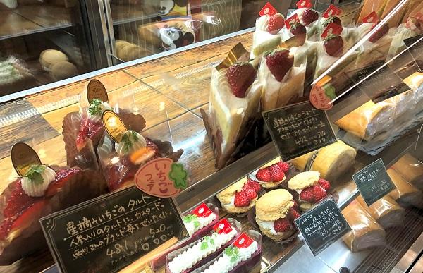 202104大和八木駅のケーキ屋さん「やさい菓子工房ココアイ」のいちごフェア。ブランド苺のタルトやショートケーキなど