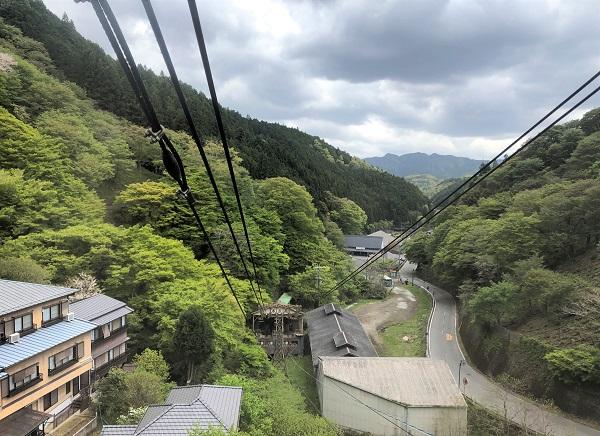 202104吉野駅からロープウェイで「金峯山寺」へ