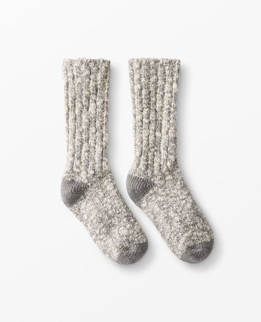 Cozy Camp Socks in Heather Grey - main