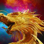 Goldener Drachenkopf