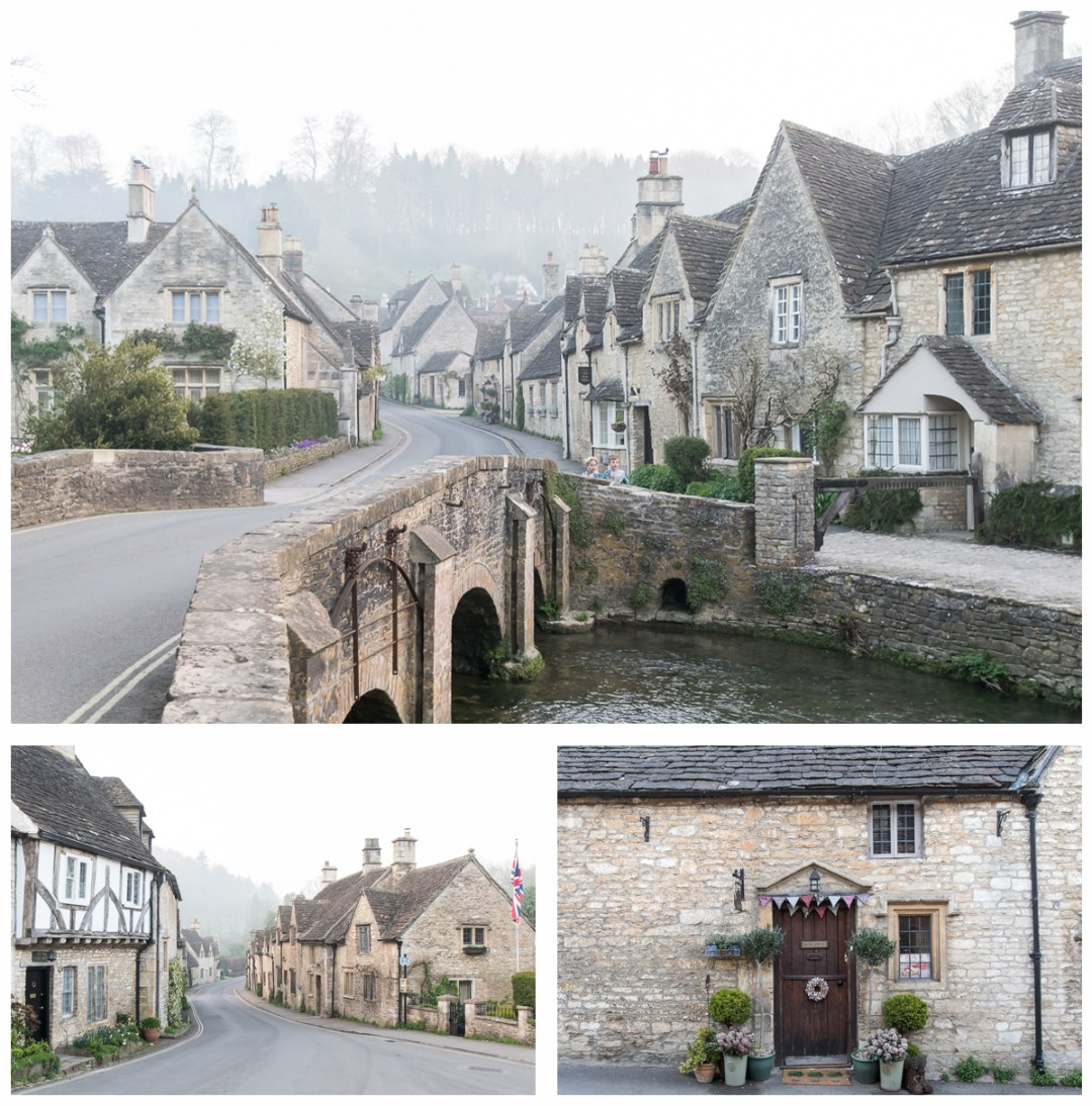 Castle Combe in the early morning mist