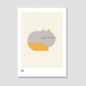 Fat cat print, Notonthehightstreet.com, £32