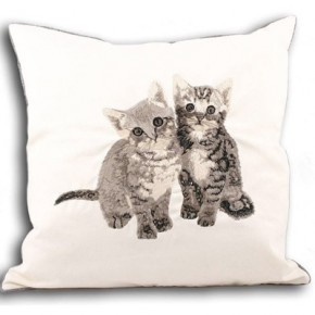 Embroidered kittens cushion, Notonthehightstreet.com, £20