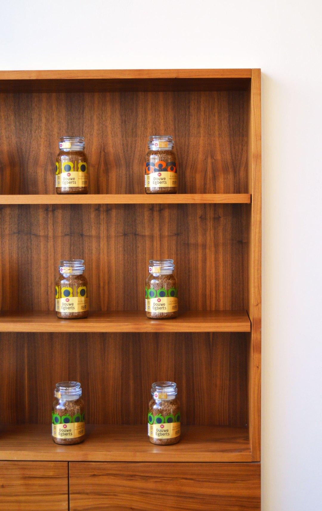 Orla Kiely coffee jar for Douwe Egberts