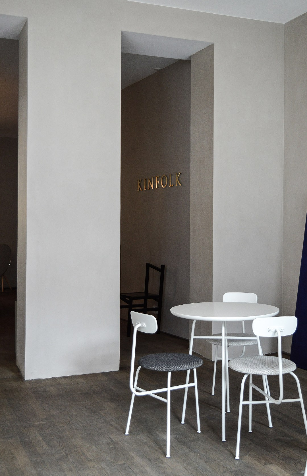 Kinfolk gallery, menu chairs, norm architects, kabe, Copenhagen, kinfolk