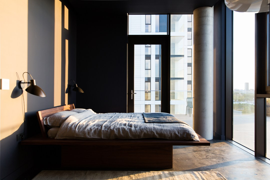 the modern bedroom at The Cereal ABODE at the Greenwich Peninsula