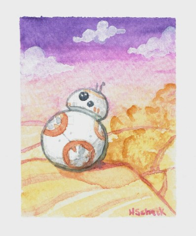 "Watercolor painting ""BB8"""