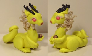 """""""Lime Oriental"""" made of polymer clay"""