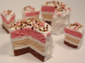 """Neapolitan Cake"" made of polymer clay"