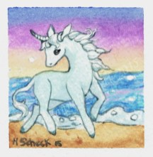 "Watercolor painting ""Unicorn"""