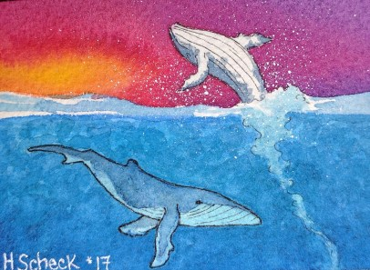 Humpback Whales at Sunset (small)
