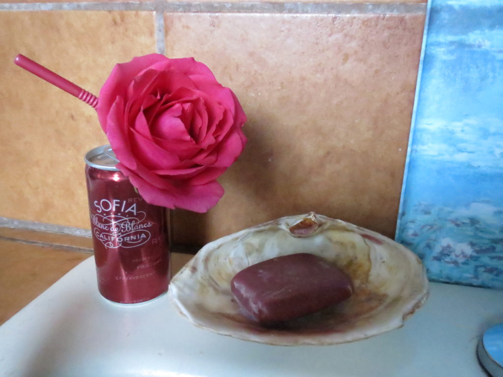 rose in the aluminum can