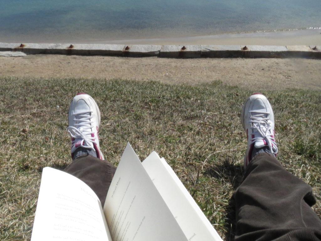 ocean and sneakers