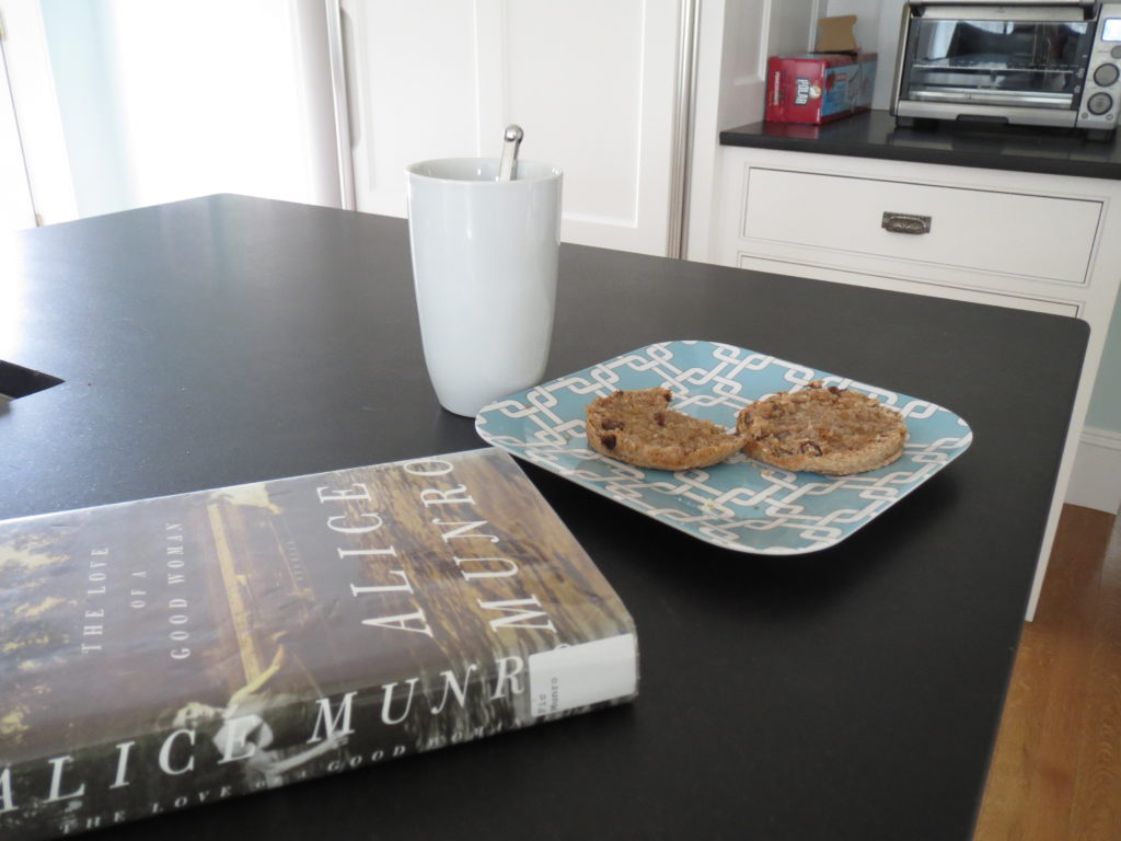 tea, muffin, book