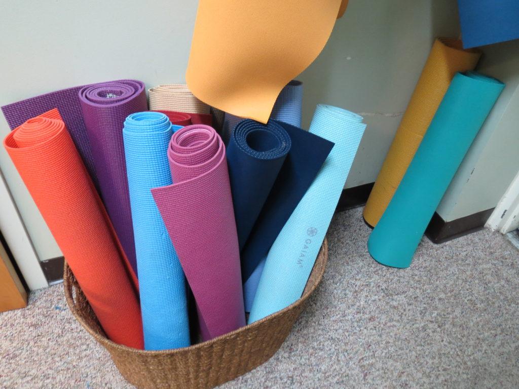 mats at the studio