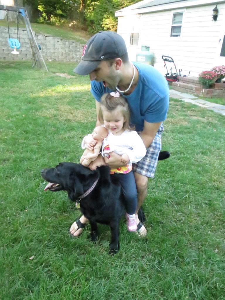 Eliza, Dan, Scout & baby