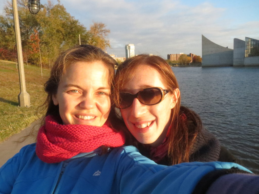 Lindsay and me by the river