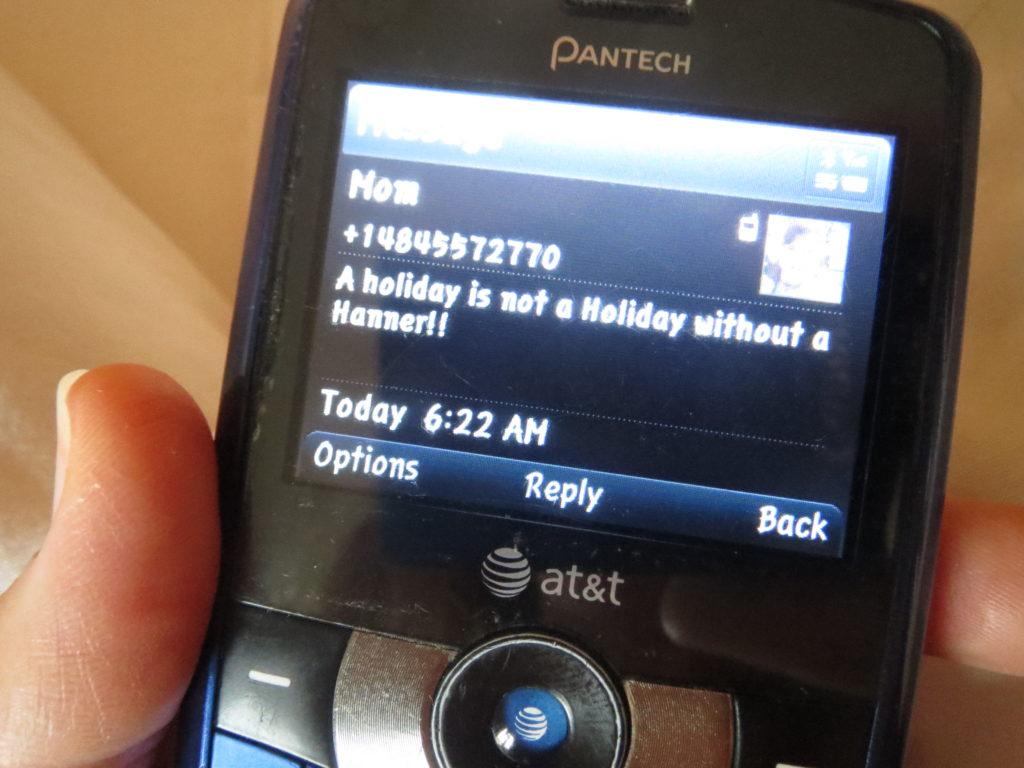 Mama's text