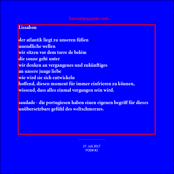 Lissabon - Poem #2