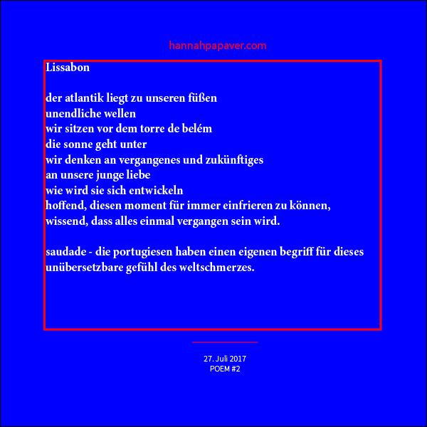 Lissabon – Gedicht #2