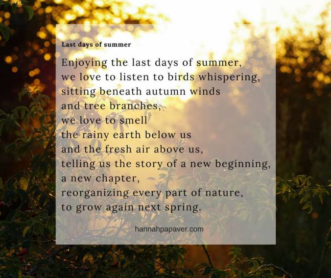 last days of summer - poem