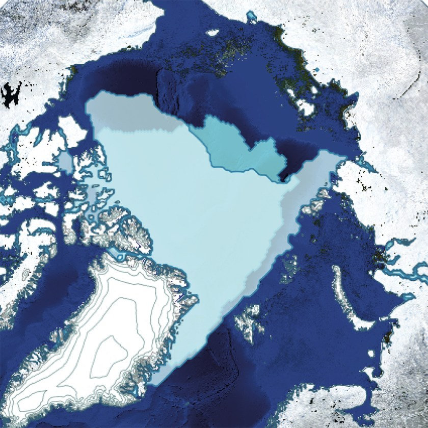 Map of Arctic Sea Ice