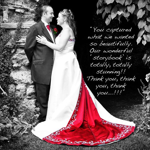 Bride & Groom testimonial