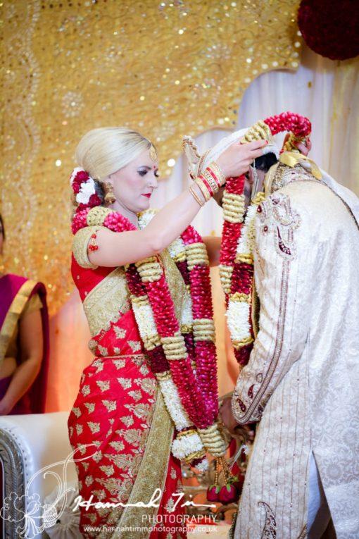 Garlands Hindu wedding photography