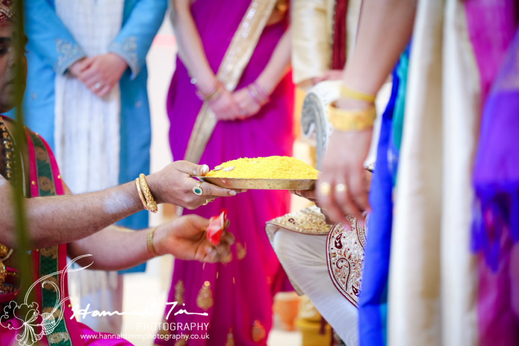 saffron Hindu wedding photography
