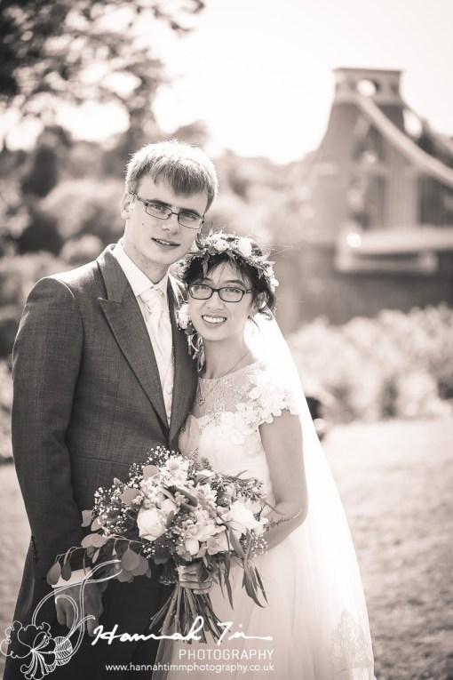 Clifton suspension bridge wedding photography