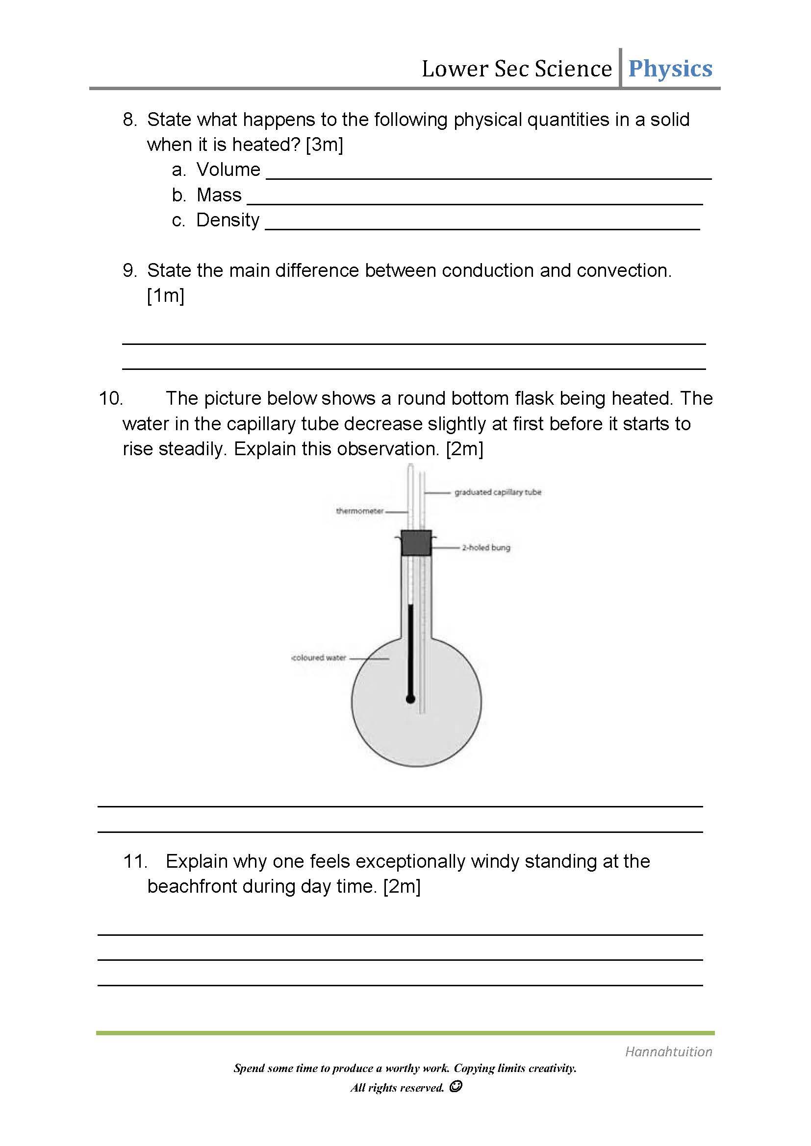 3 Methods Of Heat Transfer Worksheet