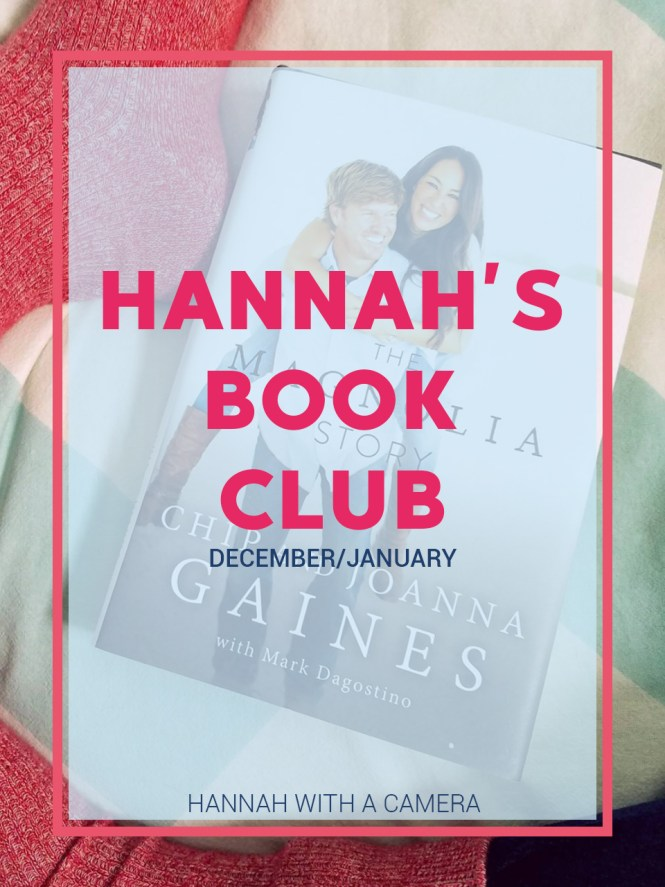 Hannah's Book Club: December and January