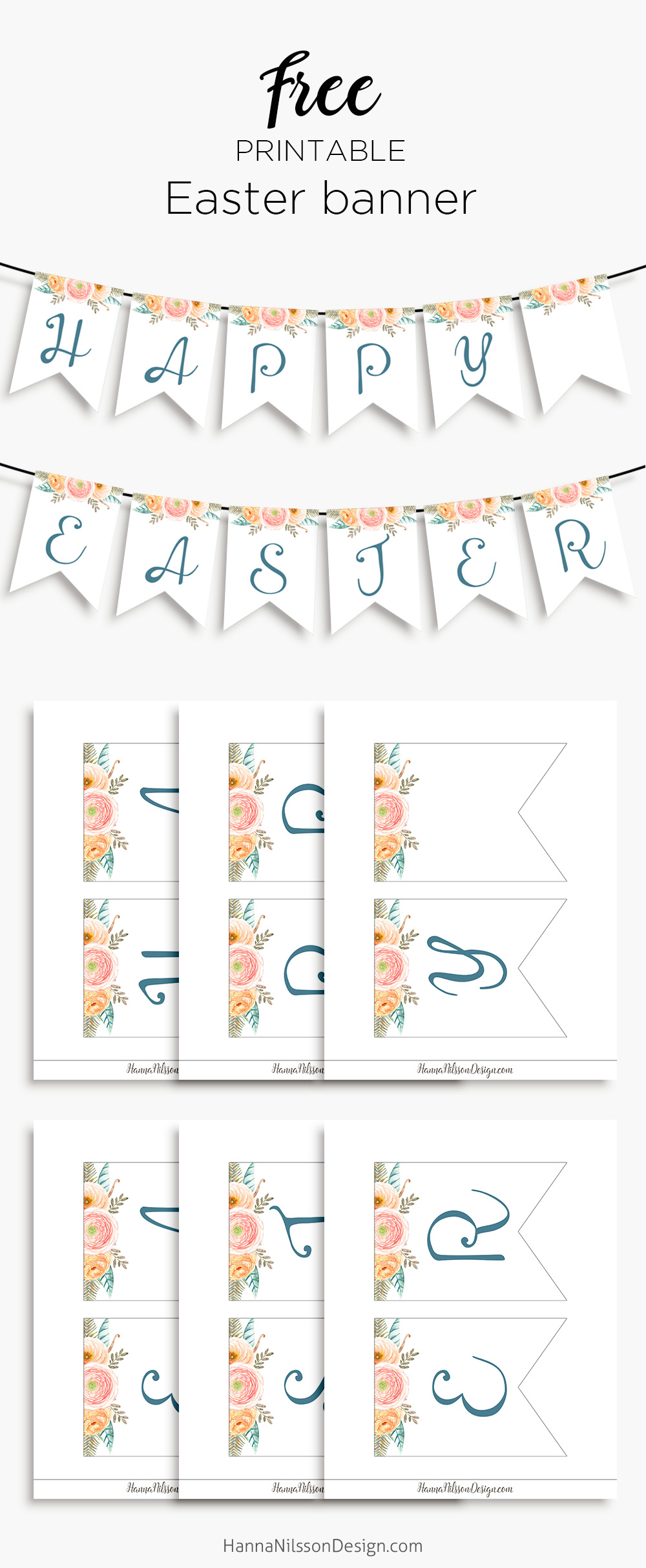 image about Easter Banner Printable referred to as Content Easter- printable banner for your spring decor Hanna