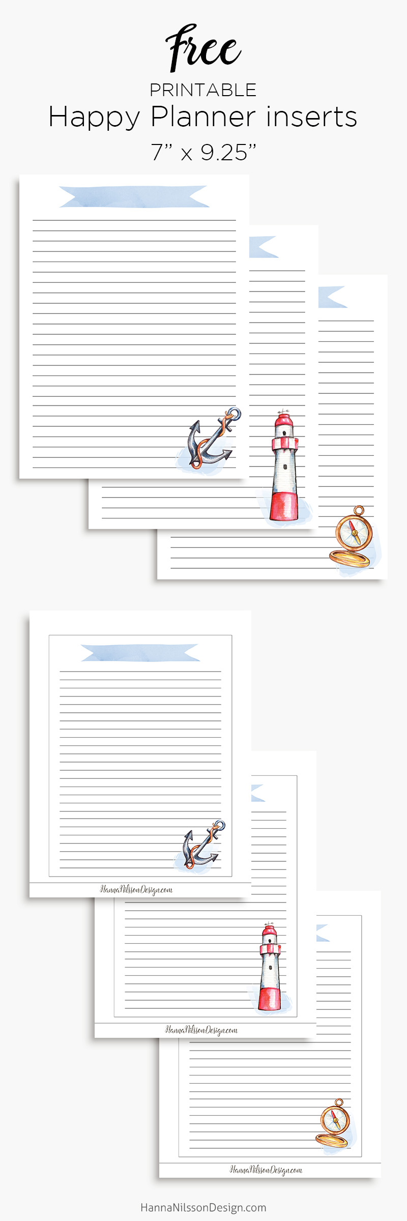 photograph regarding Free A5 Planner Printables named Nautical planner incorporate A5 Joyful planner printable lists