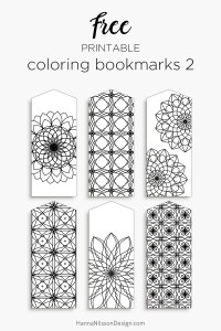 Coloring bookmarks | print and color your own boomarks – Hanna ...