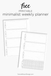 Swell Minimalist Weekly A5 Planner Inserts Hanna Nilsson Design Home Remodeling Inspirations Gresiscottssportslandcom