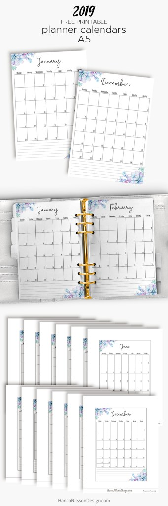 Free Yearly Calendar – Hanna Nilsson Design