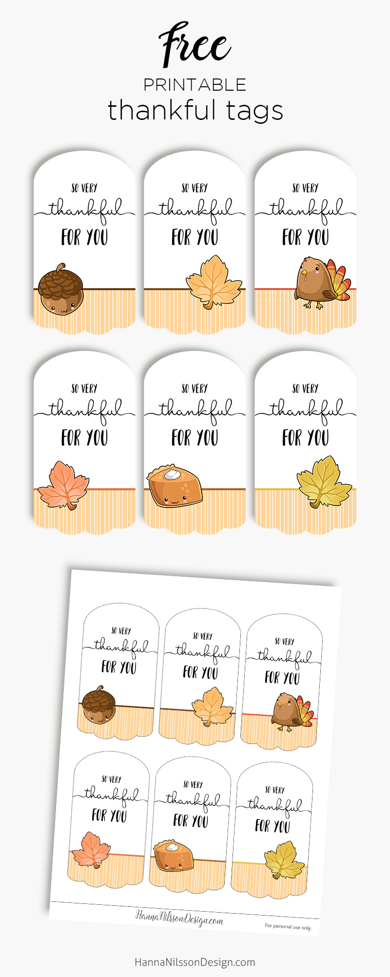 graphic relating to Free Printable Thanksgiving Tags referred to as Grateful for yourself tags Cost-free printable tags for thanksgiving