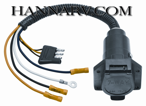 tow ready 20321 4flat to 7way flat trailer pin connector adapter