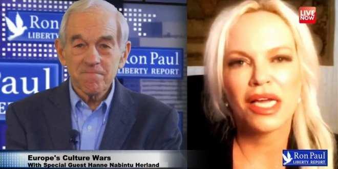 Hanne Nabintu Herland on Liberty Report with Dr. Ron Paul: Western democracies falling apart, Herland Report