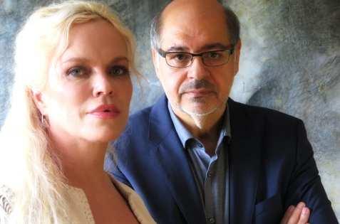 Walid al-Kubaisi og Hanne Nabintu Herland i studio med opptak. Herland Report foto.