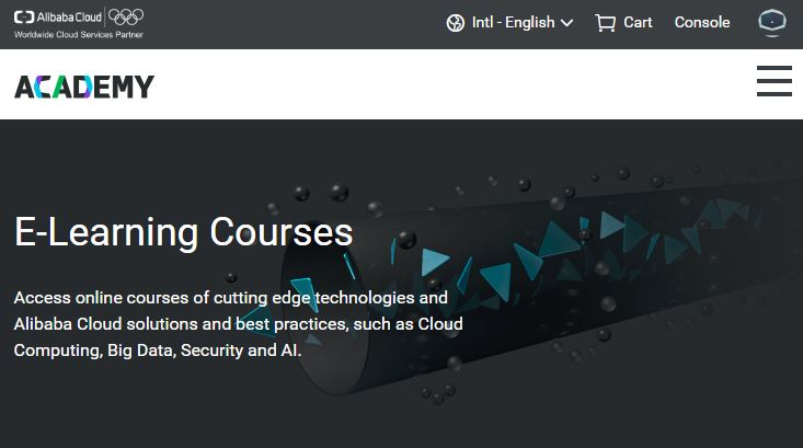 Alibaba Cloud E-Learning